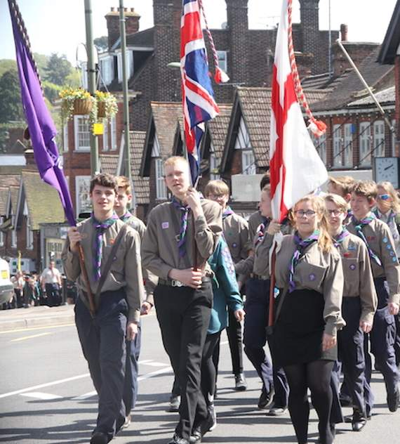 District Scouts parade for St George's Day